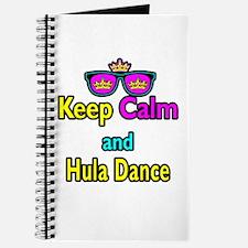 Crown Sunglasses Keep Calm And Hula Dance Journal