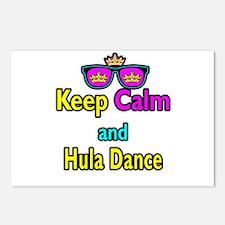 Crown Sunglasses Keep Calm And Hula Dance Postcard