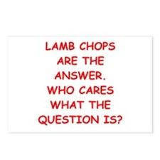lamb chops Postcards (Package of 8)