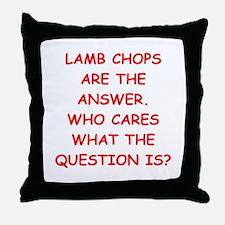 lamb chops Throw Pillow