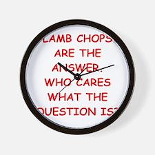 lamb chops Wall Clock