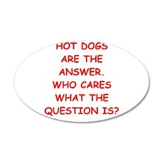 hot dogs Wall Decal