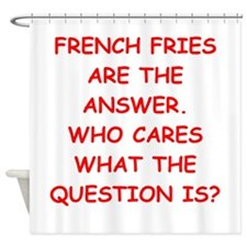 french fries Shower Curtain