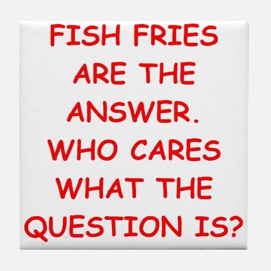 fish fries Tile Coaster