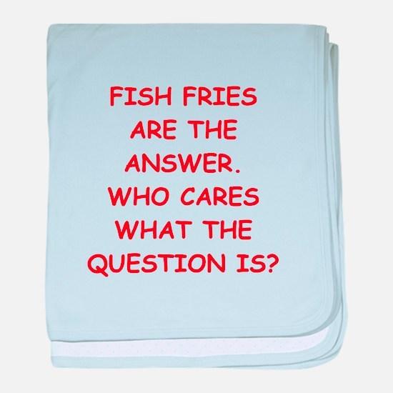 fish fries baby blanket