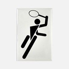 Tennis Silhouette Rectangle Magnet
