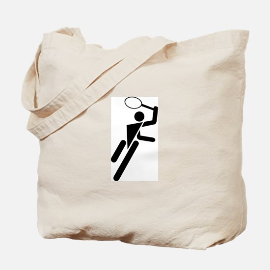 Tennis Silhouette Tote Bag