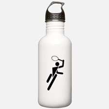 Tennis Silhouette Sports Water Bottle