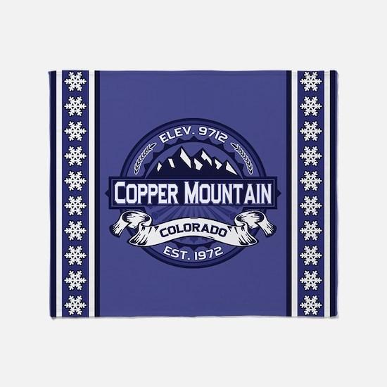 Copper Mountain Midnight Throw Blanket