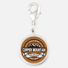 Copper Mountain Copper Silver Round Charm