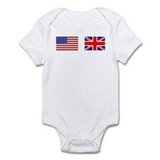 USA / UK Flags Infant Bodysuit