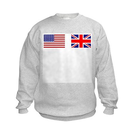 USA / UK Flags Kids Sweatshirt