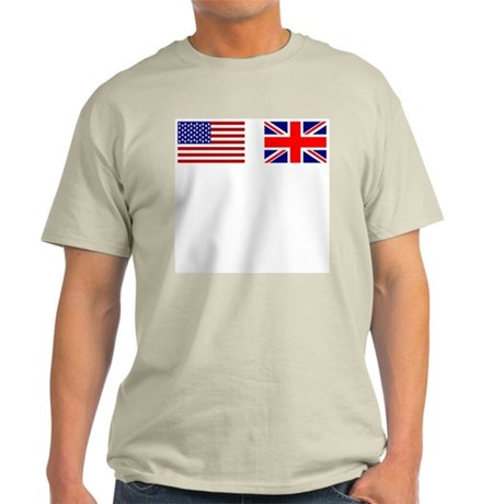 USA / UK Flags Ash Grey T-Shirt
