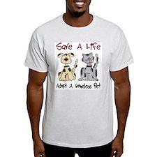 Adopt A Homeless Pet Ash Grey T-Shirt