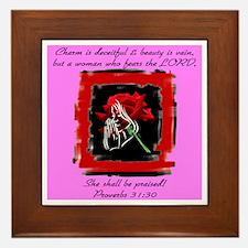 Proverbs 31 Framed Tile