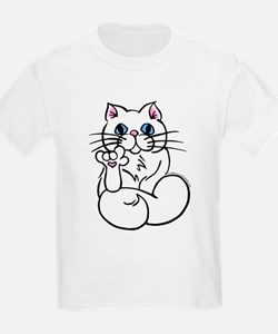 Longhair ASL Kitty Kids T-Shirt
