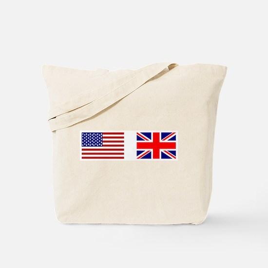 USA & Union Jack Tote Bag