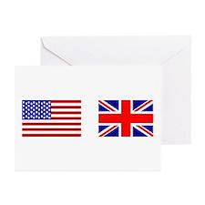 USA & Union Jack Greeting Cards (Pk of 10)