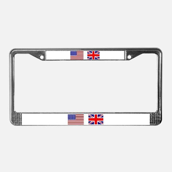 USA & Union Jack License Plate Frame