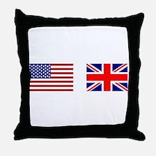 USA & Union Jack Throw Pillow