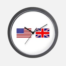 USA & Union Jack Wall Clock