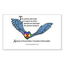 Autism is treatable & reversible Sticker 10pk