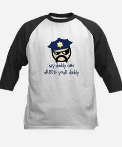 My Daddy Can Arrest Your Dadd Kids Baseball Jersey