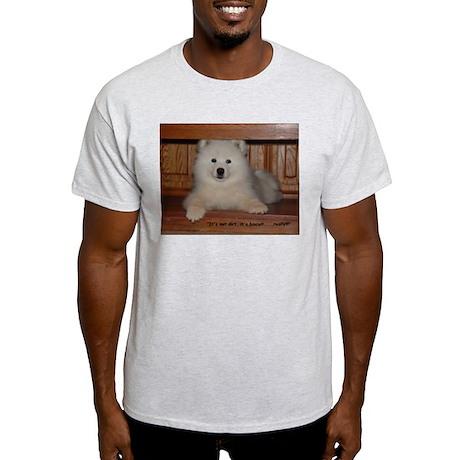 Faux Biscuit Sammy Puppy Ash Grey T-Shir