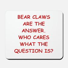 bear claws Mousepad