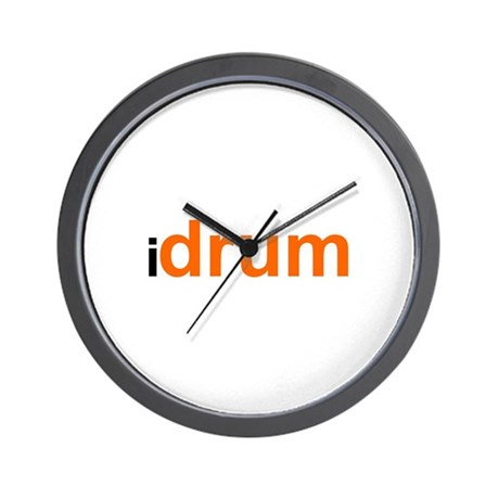 I Drum (orange) Wall Clock