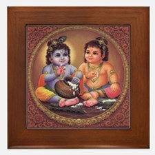 Krishna Framed Tile