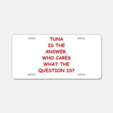 tuna Aluminum License Plate