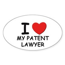 I love patent lawyer Oval Decal