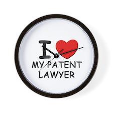 I love patent lawyer Wall Clock