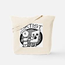 Retro Artist Tote Bag