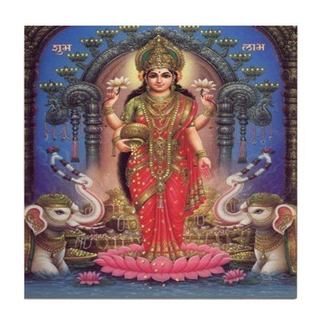Goddess of Wealth Tile Coaster