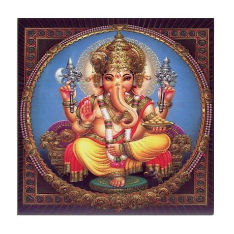 Ganesha Tile Coaster