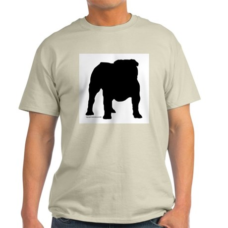 Black Bulldog Ash Grey T-Shirt