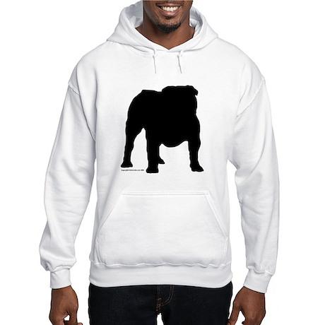 Black Bulldog Hooded Sweatshirt