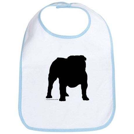 Black Bulldog Bib