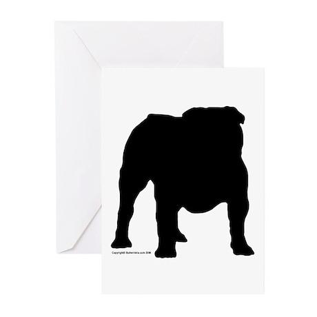 Black Bulldog Greeting Cards (Pk of 10)