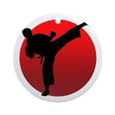 KARATE keri Ornament (Round)