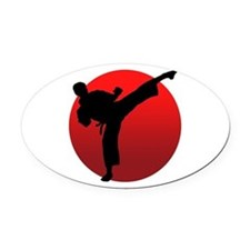 KARATE keri Oval Car Magnet