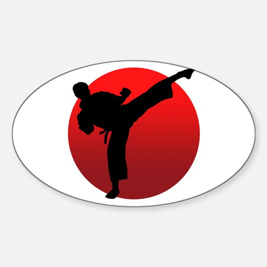 KARATE keri Sticker (Oval)