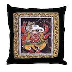 Ganesha Patachitra Style Throw Pillow