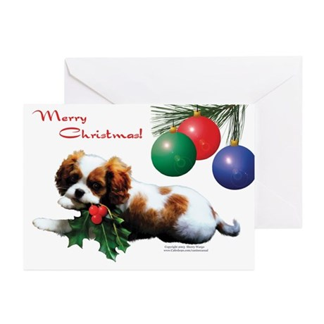"""Pup w/Holly"" Christmas Cards (Pk of 10)"
