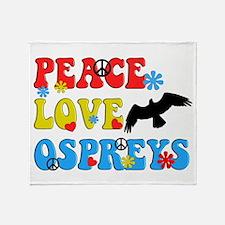 PEACE LOVE OSPREYS Throw Blanket