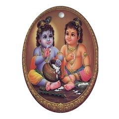 Krishna Oval Ornament