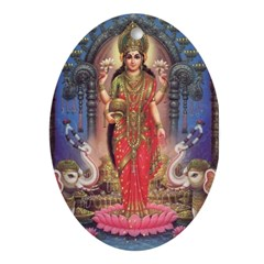 Goddess of Wealth Oval Ornament
