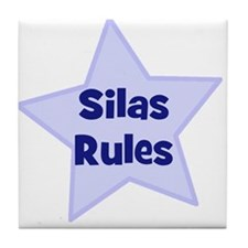 Silas Rules Tile Coaster